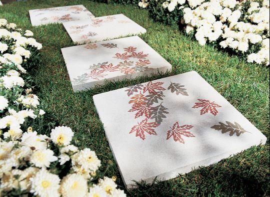 Diy Concrete Pavers Garden Stepping Stones