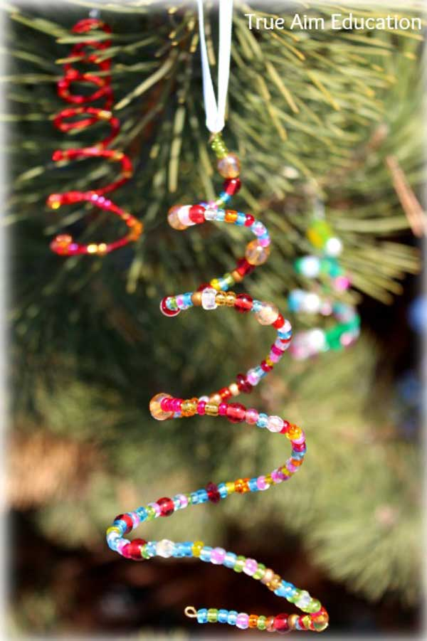 Beaded Garland For Christmas Tree