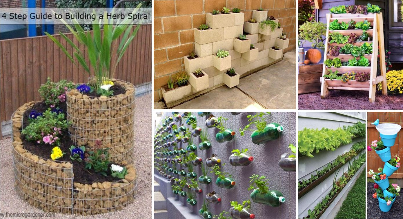 25 creative diy vertical gardens for your home for Diy home garden design