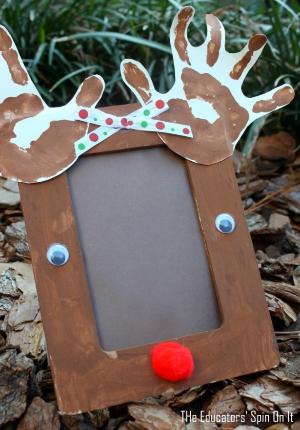 Christmas Picture Frame Craft Ideas Part - 34: AD-Creative-Handprint-And-Footprint-Crafts-For-Christmas-