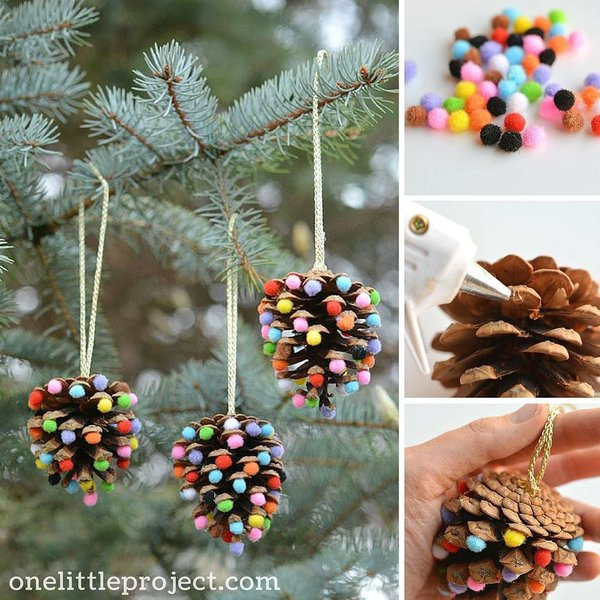 ad creative pinecone crafts for your holiday decorations - Pine Cone Christmas Tree Decorations