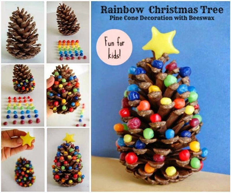 ad creative pinecone crafts for your holiday decorations - Homemade Pine Cone Christmas Decorations