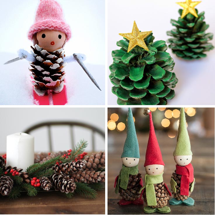 ad creative pinecone crafts for your holiday decorations - How To Decorate Pine Cones For Christmas Ornaments