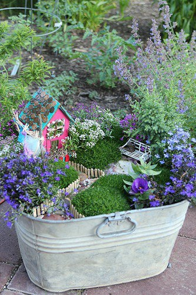 Create A Retro Inspired Capsule Wardrobe: 30 DIY Ideas How To Make Fairy Garden