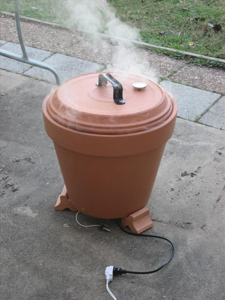 Diy Outdoor Cooker How To Build A Clay Pot Smoker