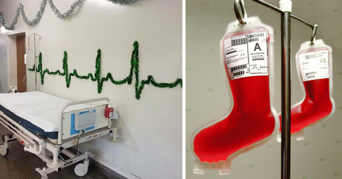 25 hospital christmas decorations that show medical staff are the most creative people ever - Office Christmas Decorations