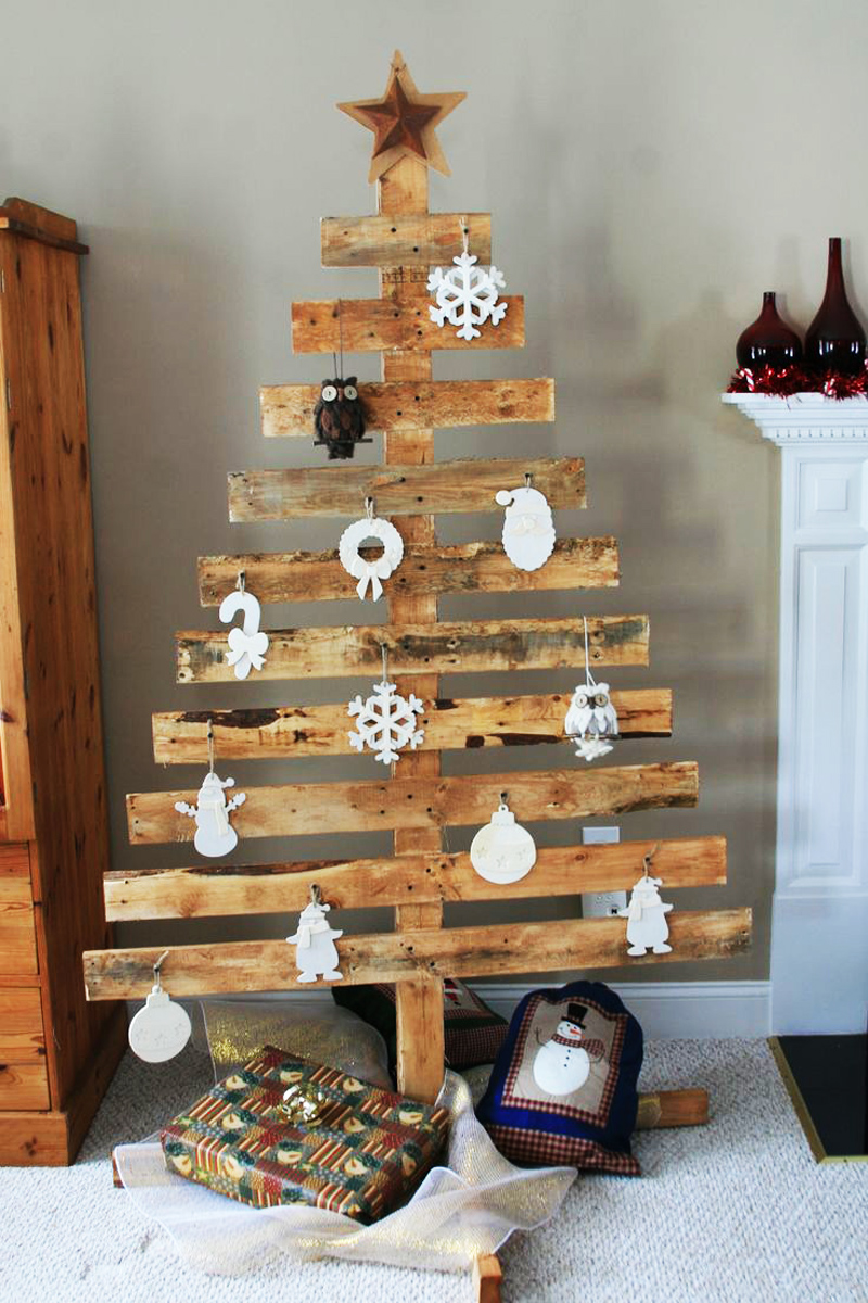 ad ideas of how to make a wood - Wood Pallet Christmas Tree