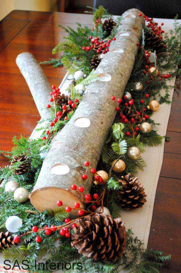 Wood Christmas Decorations.25 Ideas To Decorate Your Home With Recycled Wood This
