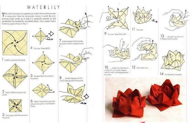 Origami Christmas Tree Folding Instructions