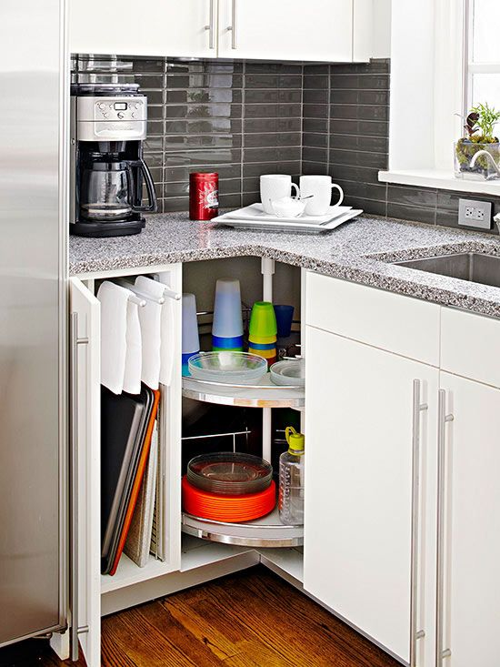 Small Kitchen Corner Cupboard