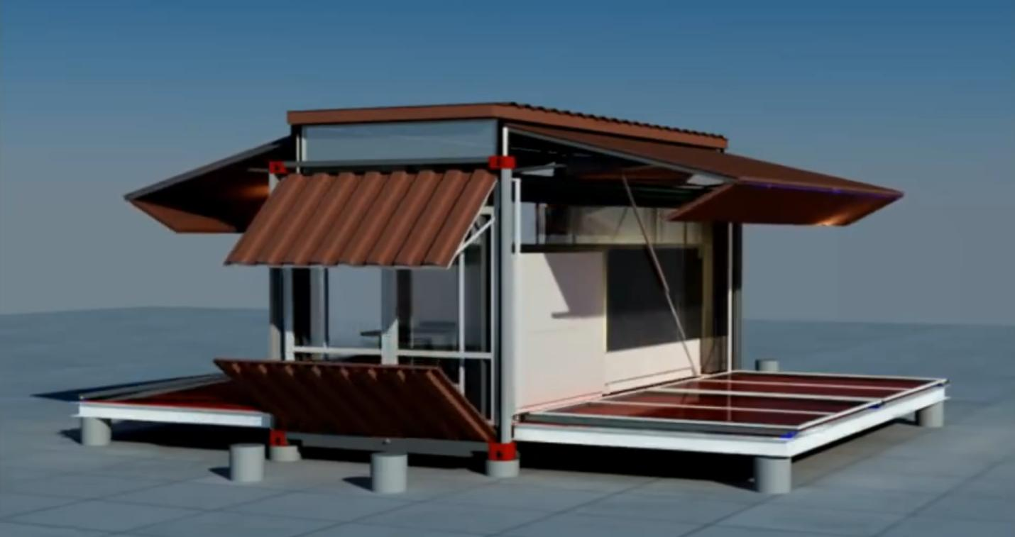 Shipping container house that is expandable and for Architecture design com