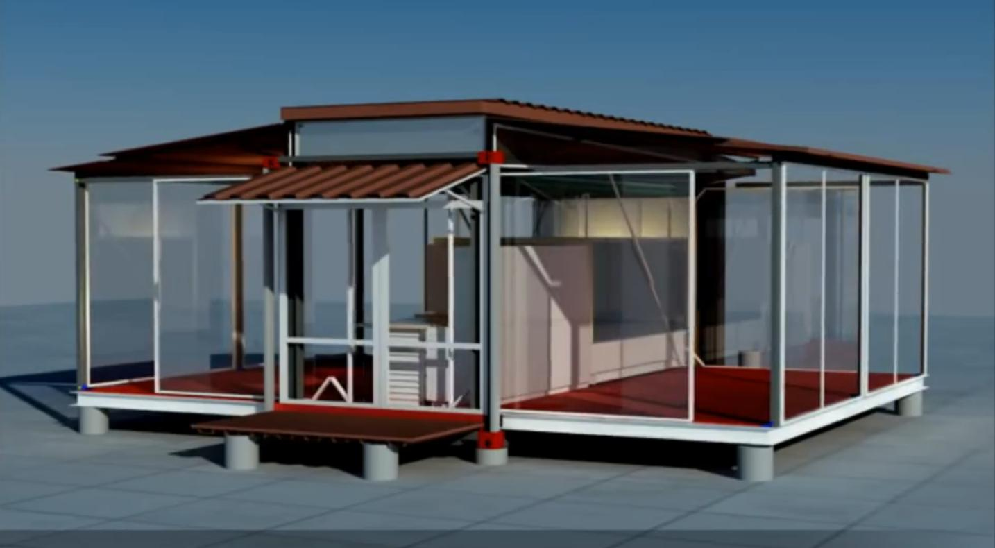 Shipping Container House That Is Expandable And