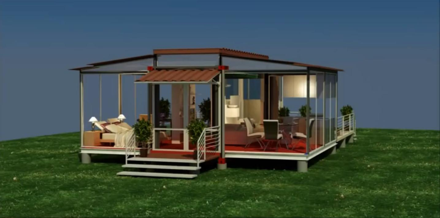 Shipping container house that is expandable and comfortable architecture design - Mobile home container ...