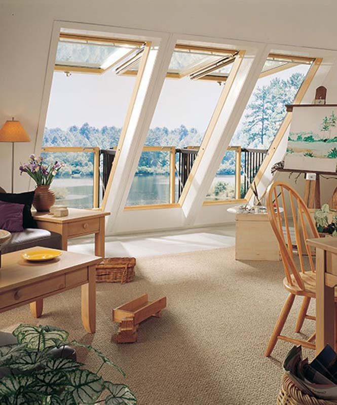 This Roof Window Can Transform Into A Small Balcony ...