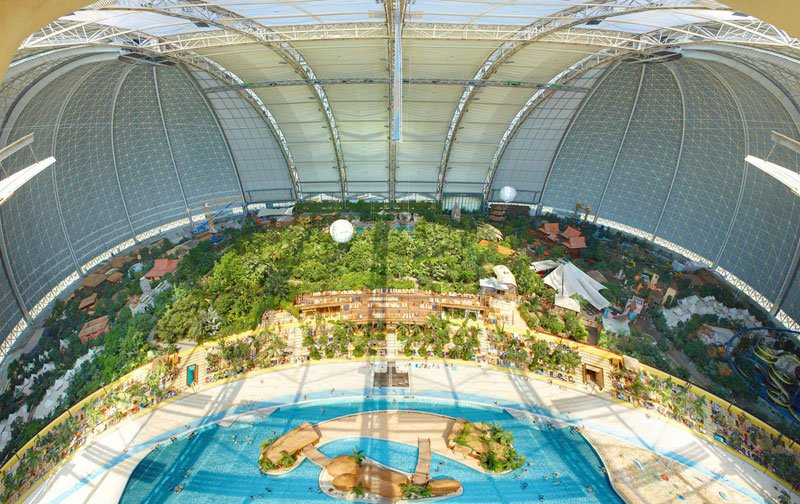 The Giant Waterpark Inside An Old German Airship Hangar