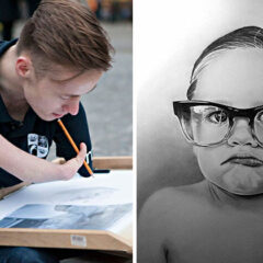 Artist Born Without Hands Draws Amazing Realistic Drawings