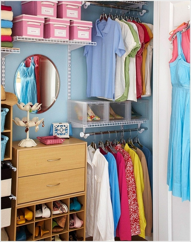 15 top bedroom closet organization hacks and ideas for How to organize your small bedroom closet