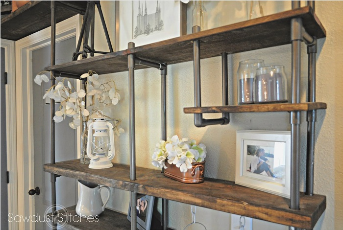Steel Tv Stand Designs : Cool diy metal pipe projects for your home
