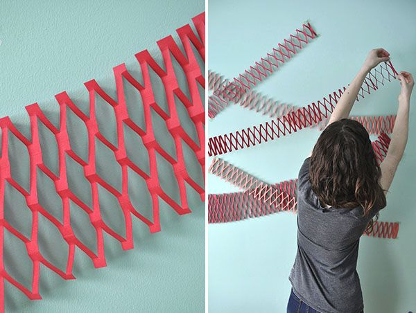 50 extraordinary beautiful diy paper decoration ideas for Net decoration ideas