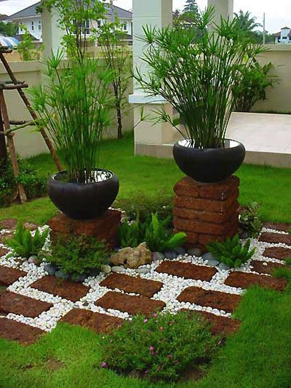 ad garden ideas with pebbles 08 new - Small Yard Design Ideas