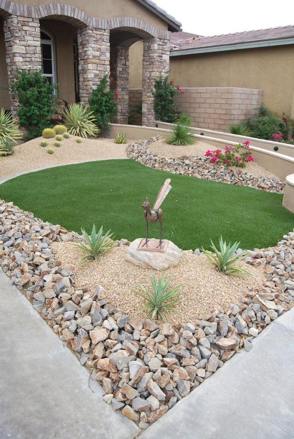 ad garden ideas with pebbles 25 - Small Garden Design Examples