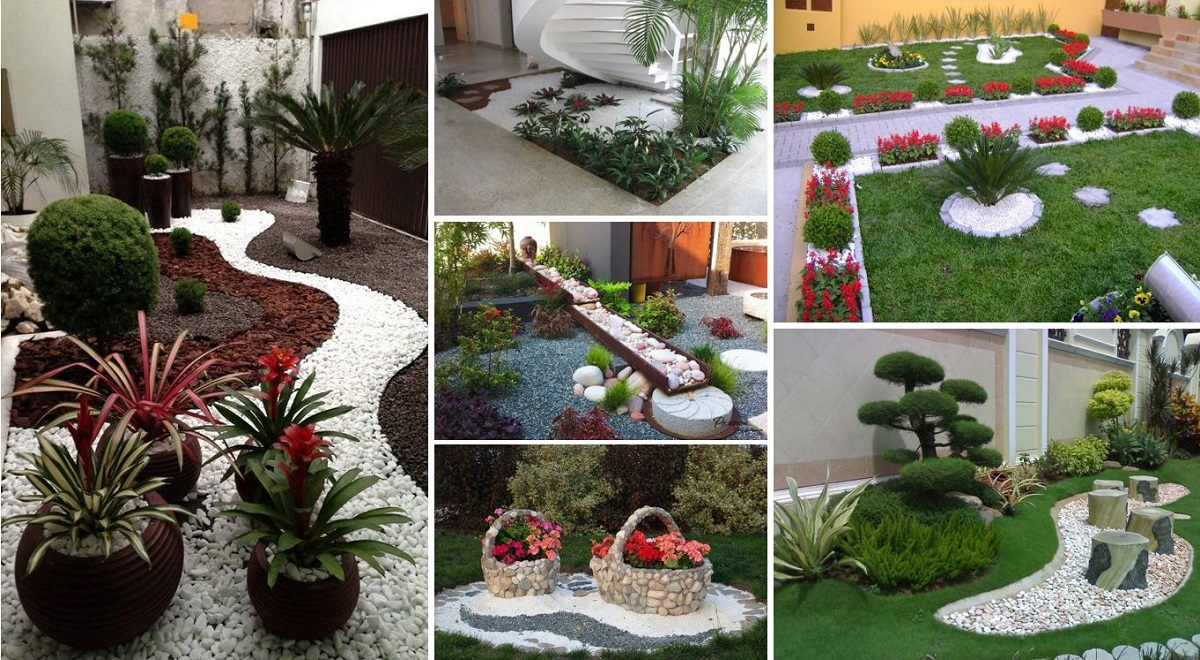Garden design ideas with pebbles for Garden layout ideas small garden