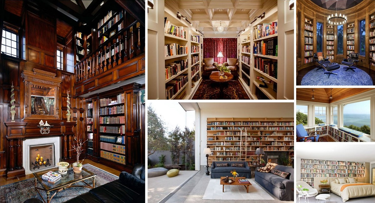 60 home library design ideas with stunning visual effect for Best home library designs