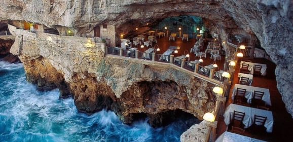 Restaurant Built Inside An Italian Cave Let's You Dine With Breathtaking Views