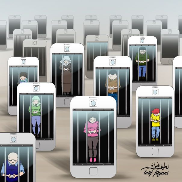 AD-Satirical-Illustrations-Show-Our-Addiction-To-Technology-34