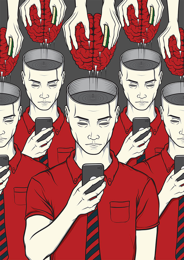 AD-Satirical-Illustrations-Show-Our-Addiction-To-Technology-35