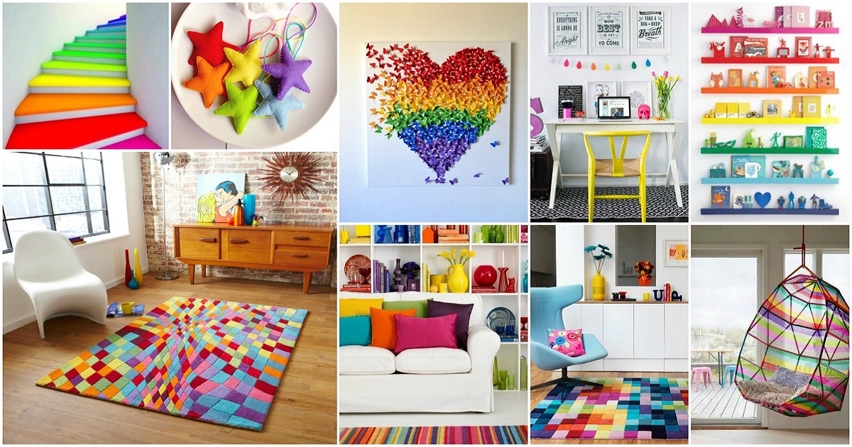 Top lively rainbow decor ideas that will cheer you up - Ideas decorar con fotos ...