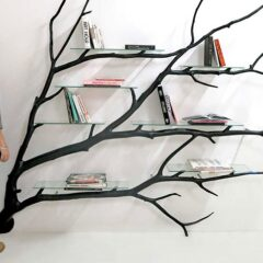 Artist Finds Fallen Tree Branch On Road, Turns It Into Shelf