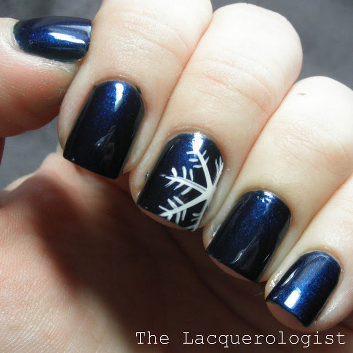 35 Winter Inspired Nail Designs That Are As Beautiful As Freshly
