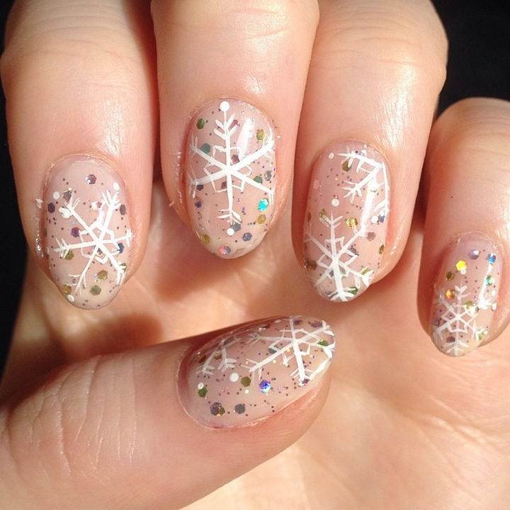 35+ Winter Inspired Nail Designs That Are As Beautiful As