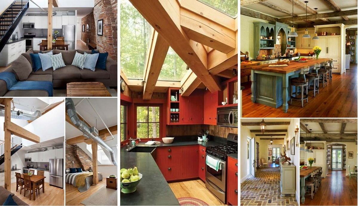 Uncategorized Exposed Wooden Beams 25 wonderful ideas to design your space with exposed wooden beams