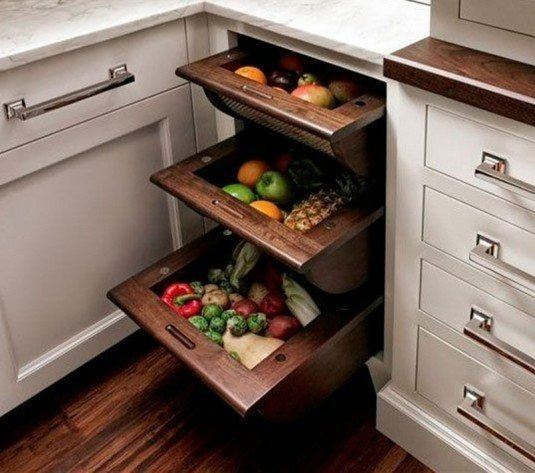 Custom Kitchen Cabinet Accessories: 25 Insanely Clever Storage Solutions For Fruits And Vegetables