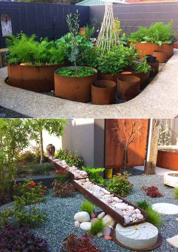 20 Amazing Diy Ideas For Outdoor Rusted Metal Projects