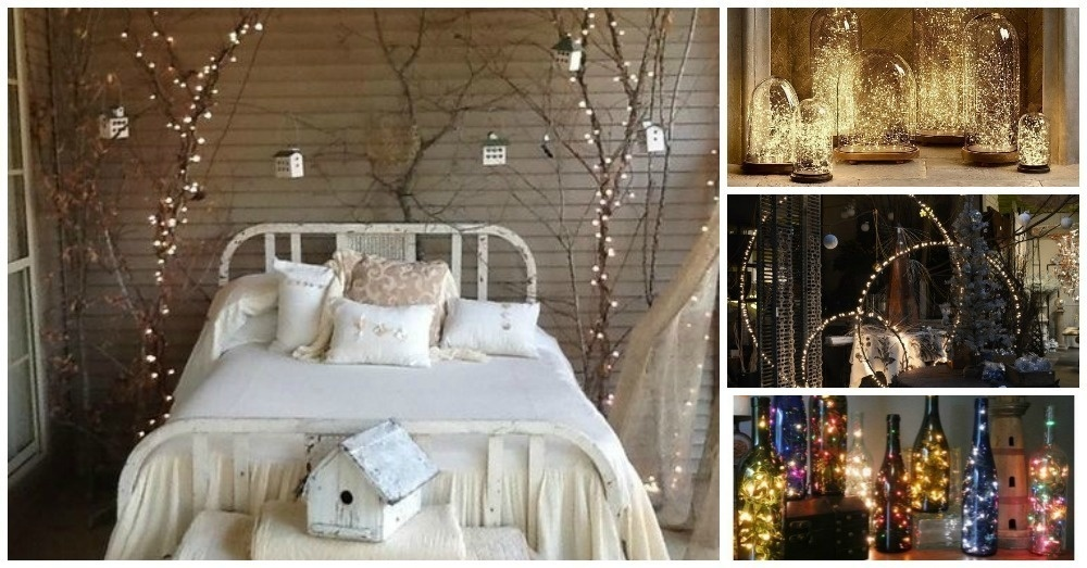 20 amazingly pretty ways to use string lights for Home decor ideas string lights