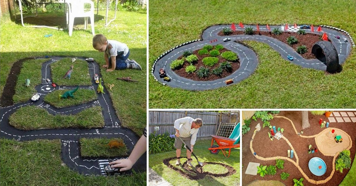 Backyard Projects For Kids: DIY Race Car Track