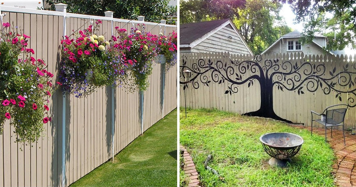 55+ People Who Took Their Backyard Fences To Another Level on Backyard Wall Design id=62057