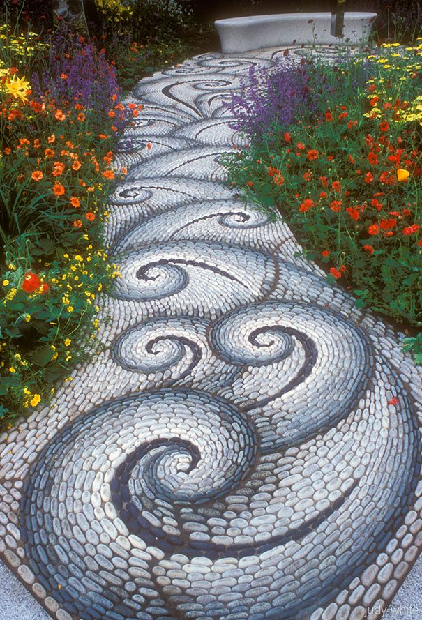 AD Garden Pathway Pebble Mosaic Ideas For Your