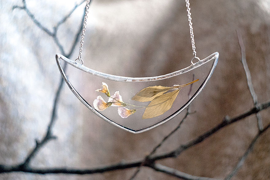 AD-Pressed-Flower-Leaf-Jewelry-Stained-Glass-Wwheart-13