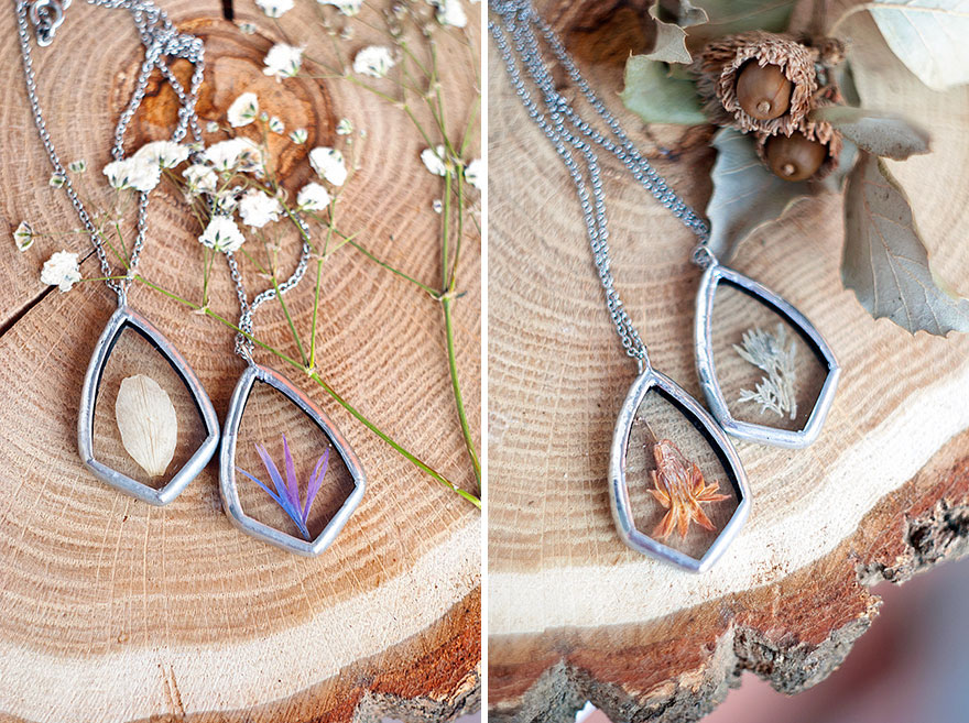 AD-Pressed-Flower-Leaf-Jewelry-Stained-Glass-Wwheart-15