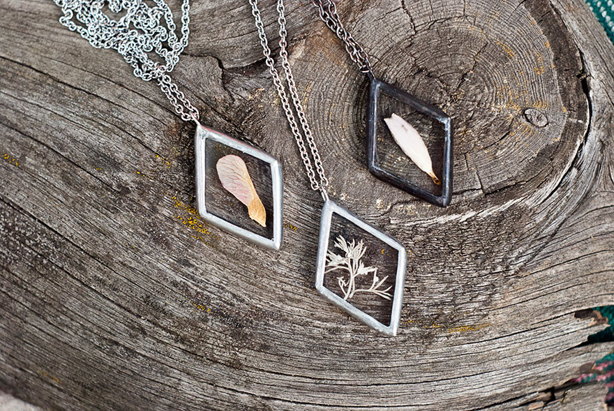 AD-Pressed-Flower-Leaf-Jewelry-Stained-Glass-Wwheart-17