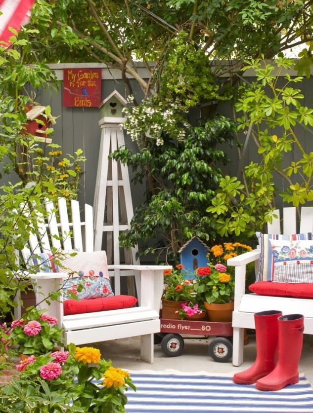 35 wonderful ideas how to organize a pretty small garden space for Creative small garden ideas