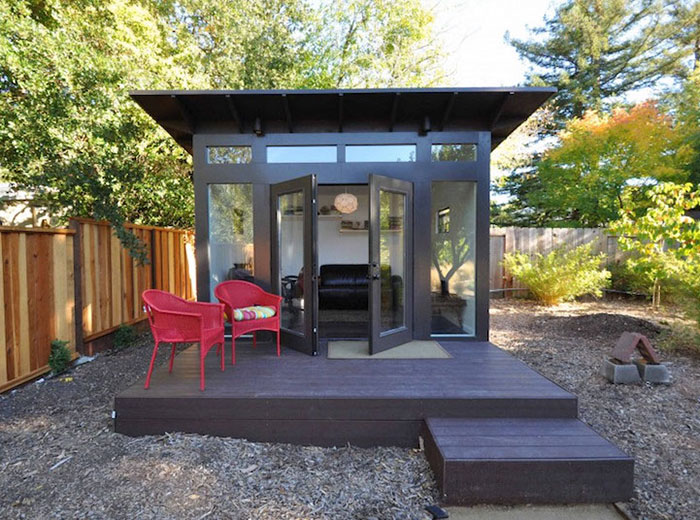 "Forget The Man Cave Looks This Stylish ""She Shed"" Cave For ... on Man Cave Patio Ideas id=11857"