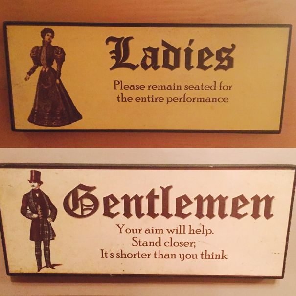 100 Of The Most Creative Bathroom Signs Ever