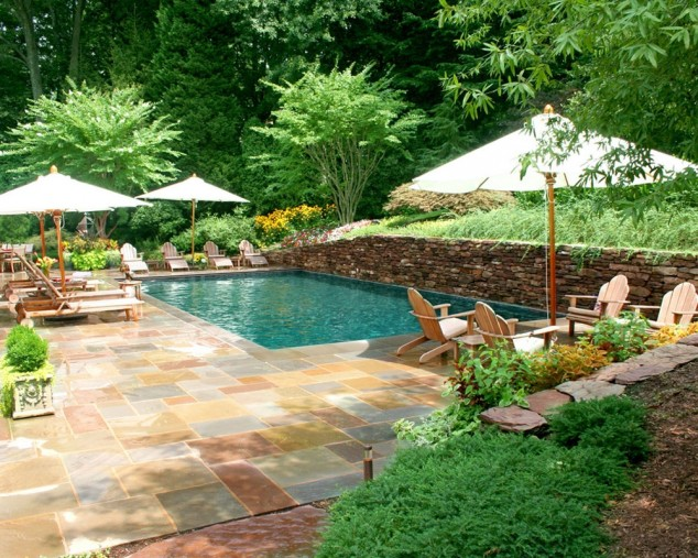 30 ideas for wonderful mini swimming pools in your backyard for Garden pool designs