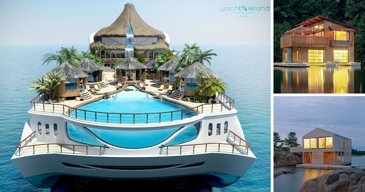 10 amazing floating houses around the world architecture for Amazing house designs