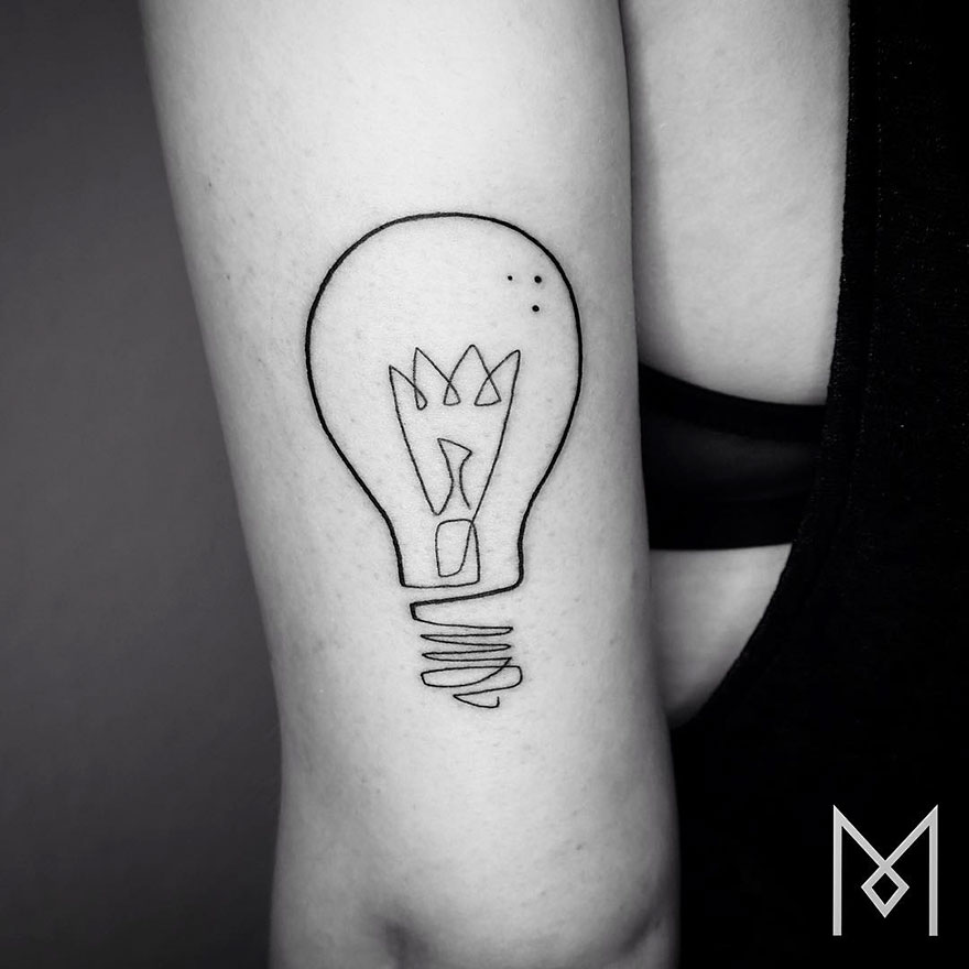 Minimalist Single Line Tattoos By Iranian-German Artist